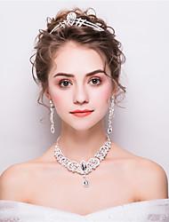 Недорогие -Жен. Стразы Мода Свадьба Для вечеринок Стразы Свисающие Украшения для волос Ожерелья Серьги
