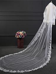 Wedding Veil Two-tier Blusher Veils Chapel Veils Lace Applique Edge Tulle