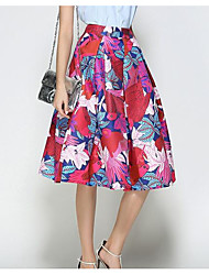 cheap -Women's Going out Midi Skirts,Vintage A Line Floral Print Summer
