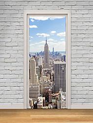Недорогие -Известные картины Пейзаж 3D Наклейки Простые наклейки 3D наклейки Декоративные наклейки на стены 3D,Бумага материал Украшение дома