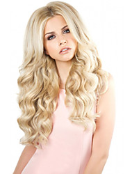 cheap -Women Synthetic Wig Capless Long Body Wave Blonde Natural Hairline Middle Part Party Wig Celebrity Wig Halloween Wig Natural Wigs Costume
