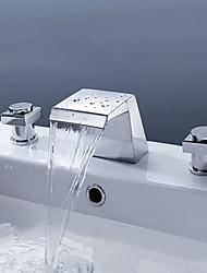 アンティーク 洗面ボウル 滝状吐水タイプ セラミックバルブ 一つ シングルハンドルつの穴 オイルブロンズ , バスルームのシンクの蛇口