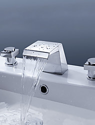 Crystal Handle Widespread Bathroom Sink Vessel Faucet Lavatory Vanity Basin Mixer tap