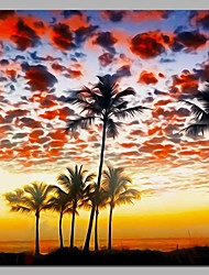 Недорогие -кокосовая пальма стены декор рука окрашены современные картины маслом современное произведение искусства стены