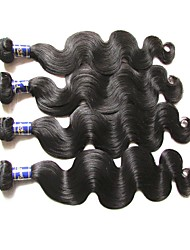 best quality peruvian virgin hair body wave 4bundles 400g lot natural color unprocessed original human hair weaves full hair pieces