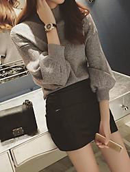 preiswerte -Damen Pullover-Solide Ständer