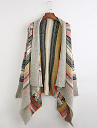 cheap -Women's Boho Long Sleeves Long Cloak / Capes - Striped