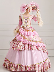 Cosplay Costumes Wizard/Witch Princess Queen Cinderella Goddess Santa Suits Vampire Festival/Holiday Halloween Costumes Pink Solid Color