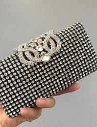 cheap -Women's Bags Glasses Evening Bag Crystals Black