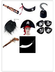 Недорогие -Маски на Хэллоуин Товары для Хэллоуина Аксессуары для Хэллоуина Пираты моделирование Пираты Ацетат / пластик Универсальные Мальчики Девочки Игрушки Подарок