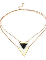 Women's Pendant Necklaces Turquoise Triangle Shape Crystal Alloy Metallic Fashion Jewelry For Casual Formal