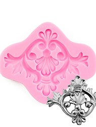 cheap -Food Safe Scroll Medallion Silicone Mold Fondant Cake Decoration Tools for Cupcake Chocolate Candy