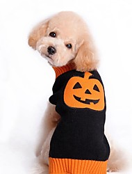 Cat Dog Coat Sweater Dog Clothes Party Casual/Daily Cosplay Keep Warm Wedding Halloween Christmas New Year's Pumpkin Black