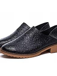 Unisexe Chaussures Polyuréthane Eté Confort Mocassins et Chaussons+D6148 Talon Plat Bout rond Pour Décontracté Blanc Noir Marron Bleu