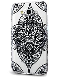 cheap -Case For Samsung Galaxy J7 (2017) J3 (2017) Ultra-thin Transparent Pattern Back Cover Lace Printing Soft TPU for J7 (2016) J7 (2017) J7 V