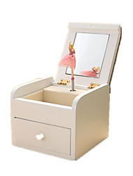 cheap -Music Box Toys Furnishing Articles Square Wooden Wood 1 Pieces Not Specified Birthday Gift