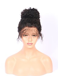 cheap -Human Hair Full Lace Wig Malaysian Hair Curly With Baby Hair 130% Density 100% Hand Tied 100% Virgin Natural Hairline Long Women's Human