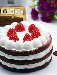 abordables -1 pcs 10 cm * 10 cm * 7 décor à la maison décoration artisanat miniatures couleur pu simulation rebond fraise gâteau modèle