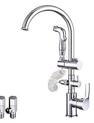 Moderne Vasque Séparé Rotatif Soupape céramique Chrome , Robinet de Cuisine