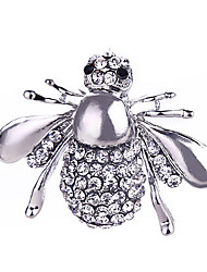 cheap -Crystal Brooches - Silver Plated, Gold Plated Bee, Animal Classic, Fashion Brooch Gold / Silver For Gift / Daily
