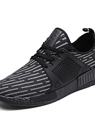 cheap -Men's Shoes Fabric Summer Fall Comfort Light Soles Sneakers Lace-up For Casual Outdoor Black/Silver Gray Black
