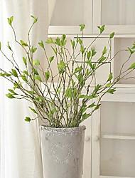 abordables -Flores Artificiales 1 Rama Estilo Pastoral Plantas Flor de Mesa
