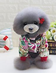 Недорогие -Собака Комбинезоны Одежда для собак На каждый день Флаг Красный Синий Костюм Для домашних животных
