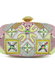 Women Bags All Seasons Special Material Shoulder Bag Beading Crystal Detailing for Wedding Formal Blue White Black Red