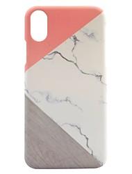 Per iPhone X iPhone 8 Custodie cover Fantasia/disegno Custodia posteriore Custodia Geometrica Effetto marmo Resistente PC per Apple