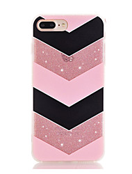cheap -For iPhone 7 iPhone 7 Plus Case Cover Ultra-thin Transparent Pattern Back Cover Case Lines / Waves Soft TPU for Apple iPhone 7 Plus