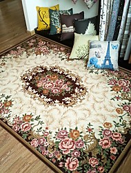 Fashion Floral Anti-skid Jacquard Carpet for Home Living Room/Dining Bedroom Mat Rug/Brown /Red/Green/Navy Blue/Beige