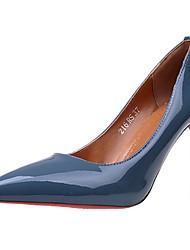 preiswerte -Damen Schuhe PU Herbst Pumps High Heels Stöckelabsatz Spitze Zehe Für Normal Kleid Schwarz Grau Grün Blau