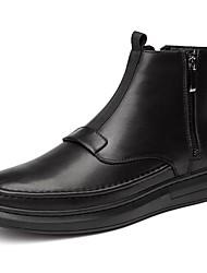 Недорогие -мужская обувь натуральная кожа cowhide nappa кожа осень зима мода ботинки мотоцикл сапоги bootie боевые сапоги сапоги ботинки / ботильоны