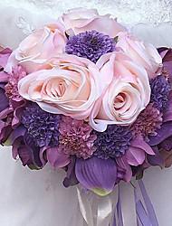 abordables -Fleurs de mariage Bouquets Mariage Soie Env.28cm 28cm