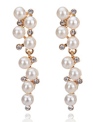 cheap -Women's Drop Earrings Imitation Pearl Classic Elegant Rhinestone Alloy Geometric Jewelry For Party Halloween Gift Daily Ceremony Holiday
