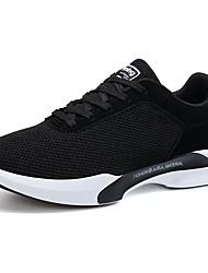 economico -Da uomo Scarpe Tulle Primavera Autunno Comoda scarpe da ginnastica Footing Lacci Per Sportivo Nero Blu scuro Grigio scuro