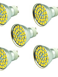 preiswerte -5 Stücke 5W LED Spot Lampen 55 Leds SMD 5730 Dekorativ Warmes Weiß Kühles Weiß 800lm 3000-7000K AC 12V