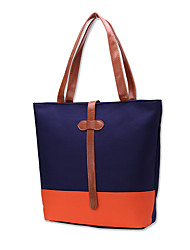 cheap -Women's Bags Canvas Tote Ruffles for Casual Office & Career All Seasons Black Dark Blue Gray
