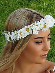 Недорогие -Для женщин Свадьба Цепочка на голову,Все сезоны Ткань Бижутерия