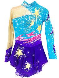cheap -Figure Skating Dress Women's Girls' Ice Skating Dress Pale Blue Spandex Rhinestone High Elasticity Performance Skating Wear Handmade Solid