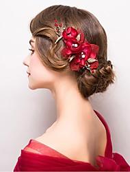flores de liga de tecido cabeça festa de noiva estilo feminino elegante