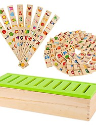 Domino Wooden Toys Knowledge Learning Shape Classification Box Kindergarten Teaching Aids JJ7701-0525