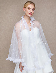 Women's Wrap Shawls Lace Wedding Party/ Evening Lace Cascading Ruffles