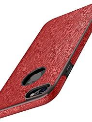 preiswerte -Für iPhone 7 iPhone 7 Plus Hüllen Cover Stoßresistent Rückseitenabdeckung Hülle Volltonfarbe Weich Kunst-Leder für Apple iPhone 7 plus