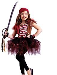 Pirate Costumes de Cosplay Masculin Enfant Halloween Fête / Célébration Déguisement d'Halloween Rouge Mode