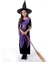 Sorcière Tenue Enfant Noël Halloween Fête / Célébration Déguisement d'Halloween Mosaïque