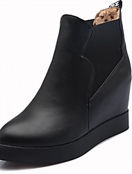 Women's Shoes PU Leatherette Fall Winter Comfort Novelty Bootie Boots Flat Heel Round Toe Booties/Ankle Boots For Party & Evening Dress
