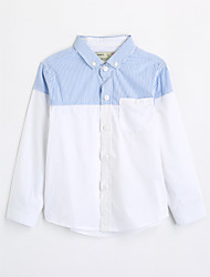 Boys' Color Block Shirt,Cotton Fall Long Sleeve