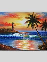 baratos -Pintados à mão Paisagem Panorâmico horizontal Tela de pintura Pintura a Óleo Decoração para casa 1 Painel