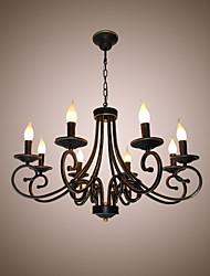 paese semplice lampadario di candela ferro arte vintage sala da pranzo sala da pranzo lampada principale illuminazione domestica